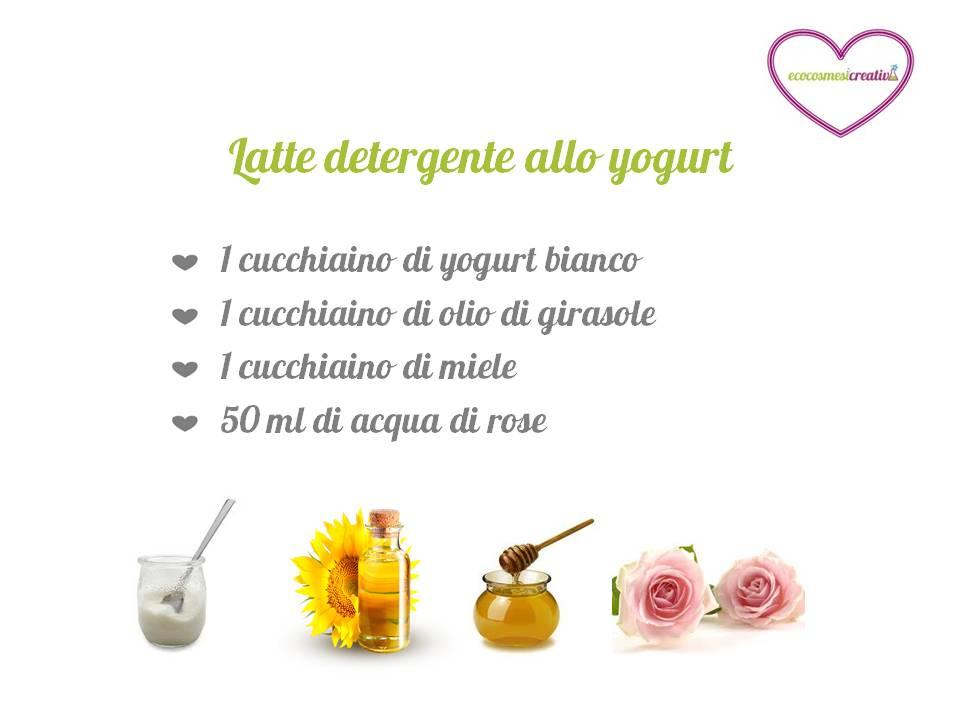 latte detergente allo yogurt